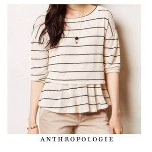 Anthropologie Postmark Peplum Sweater L